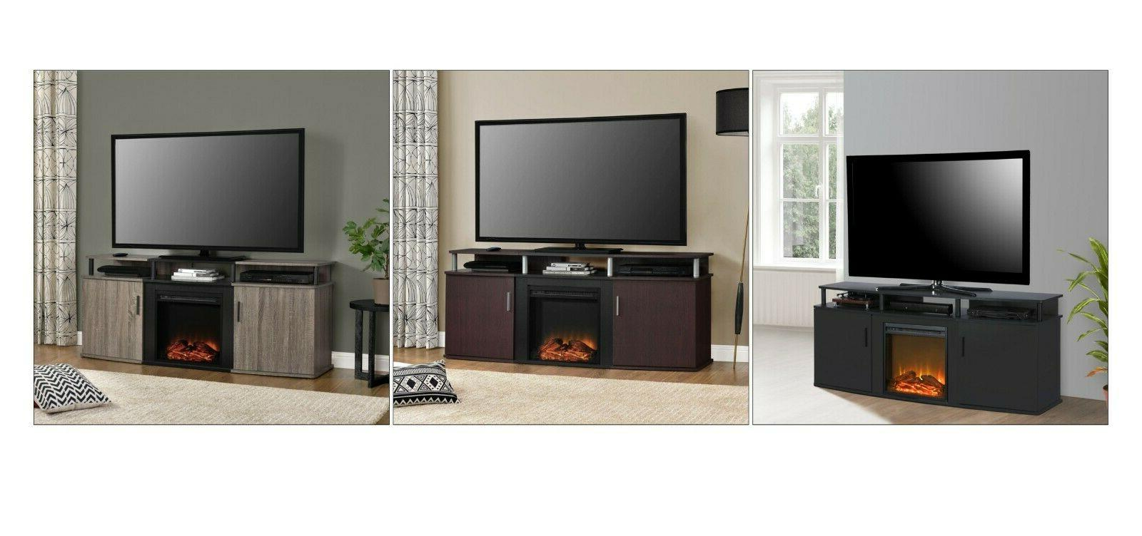 70 tv media stand fireplace electric heater