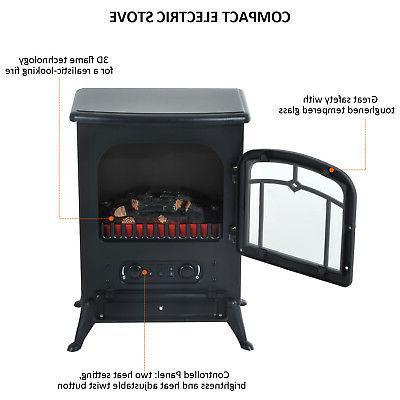 750W Fireplace Heater Wood Stove