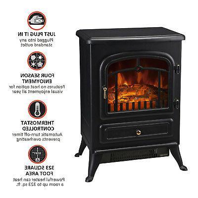 750W /1500W Adjust Wood Fire Flame Stove