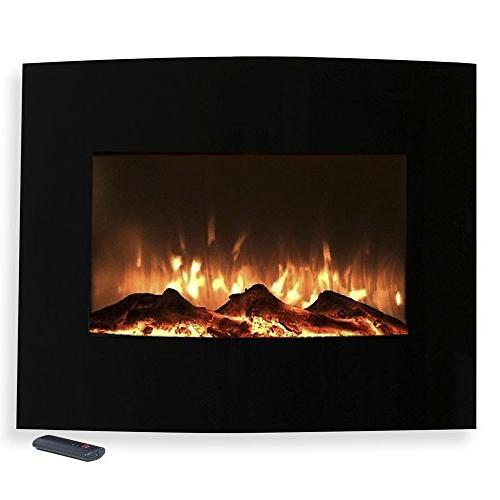 Northwest 80-455S Mini Black Fireplace Wall & Floor Mount,