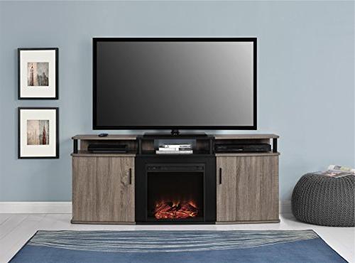 Ameriwood Fireplace TVs Weathered Oak