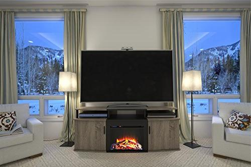Ameriwood Home Carson Electric Fireplace TV for TVs up Weathered