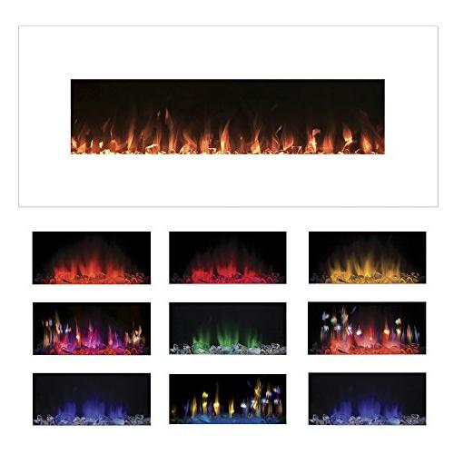 Electric Fireplace Wall Color and Inch By