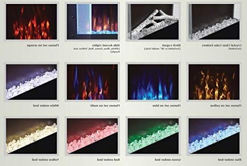 Wall Electric Fireplace , 16x38-Inch
