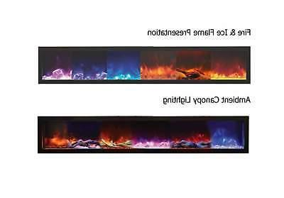 Amantii Electric Fireplace with Steel