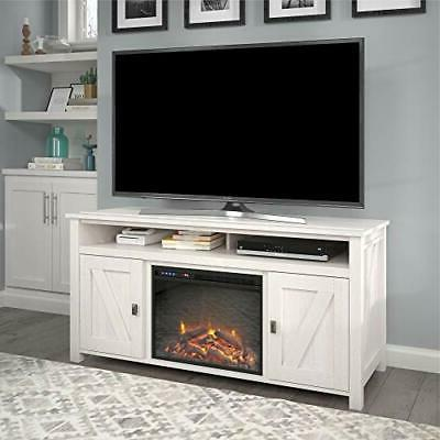 Ameriwood Home Farmington Fireplace Console TVs up to Ivory Pine