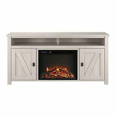 Ameriwood Home Fireplace Console to Pine