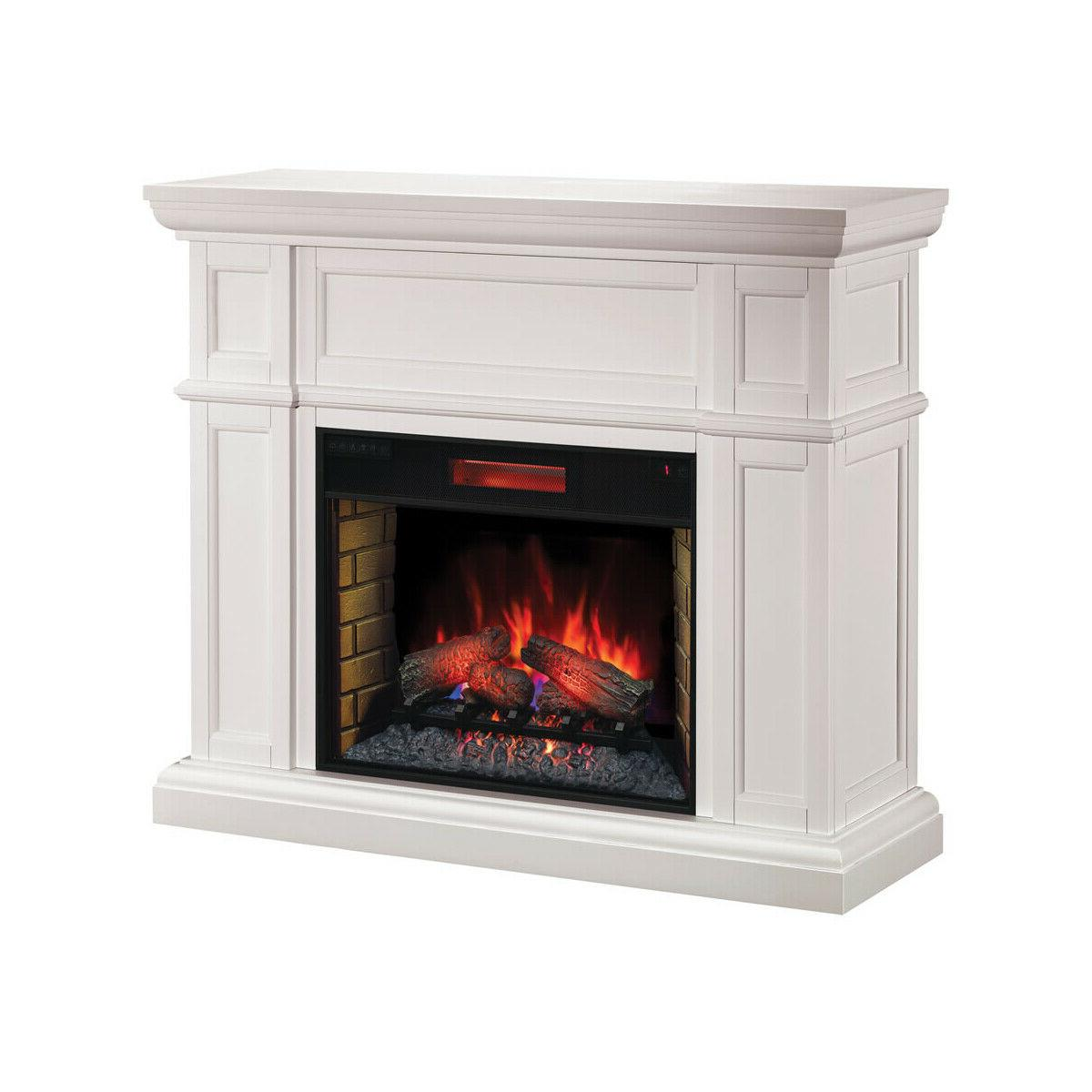 artesian white infrared electric fireplace