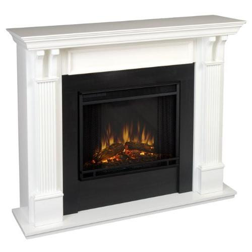 ashley gel fireplace white