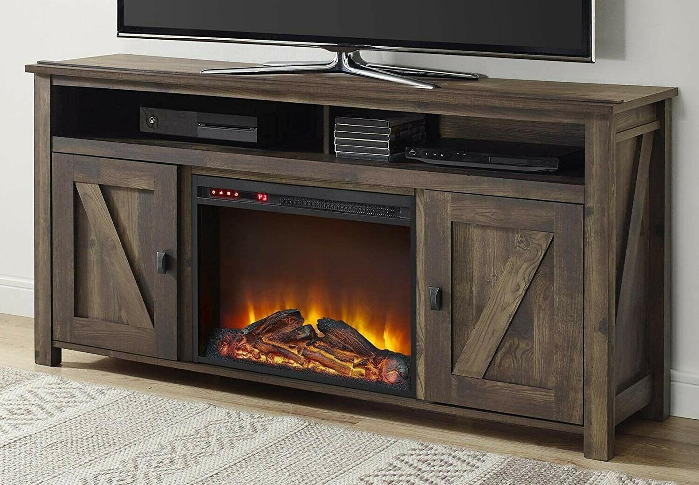 """Farmington Electric Fireplace Console 60"""" TV"""