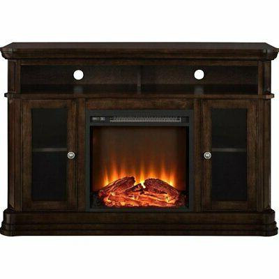 brooklyn electric fireplace tv console