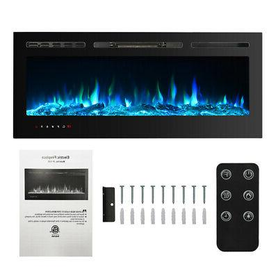 50 electric fireplace recessed insert or wall