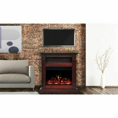 "Cambridge 34"" Fireplace Heater with Mantel"