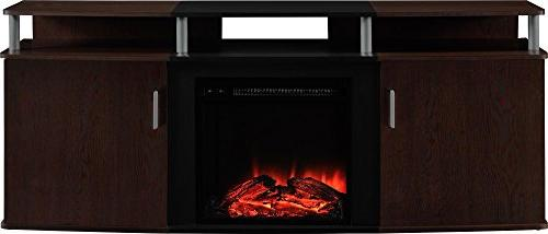 """Carson Fireplace for TVs up 70"""", Multiple Colors"""