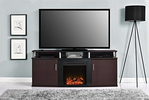 """Carson Fireplace for TVs to 70"""", Multiple Colors"""