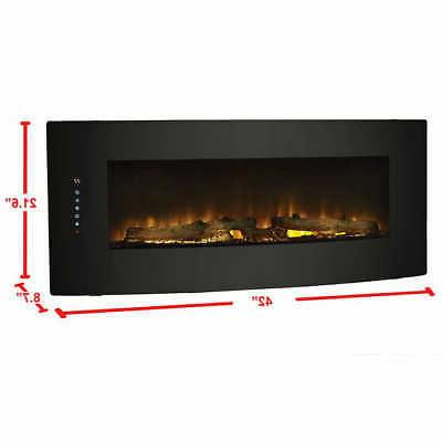Cassie Curved Mount Fireplace, 7 Color