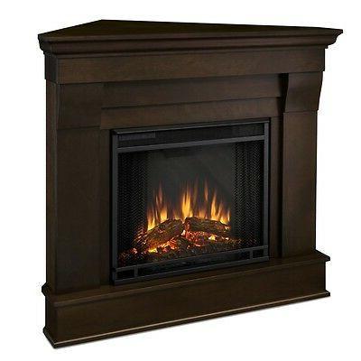 Real Flame Chateau Walnut Fireplace