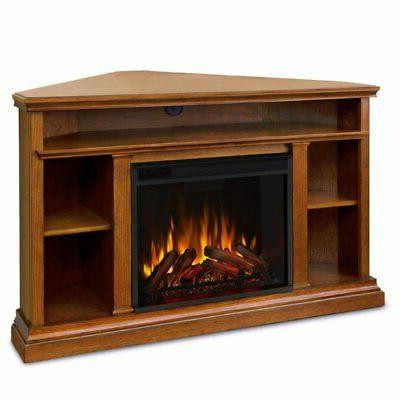 churchill electric corner fireplace in oak