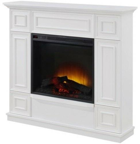 classic white electric fireplace w 44 mantle
