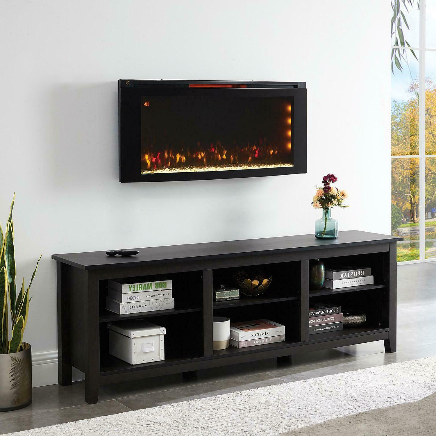 "Powerheat 42"" Wall Mounted Electric Fireplace with Display S"