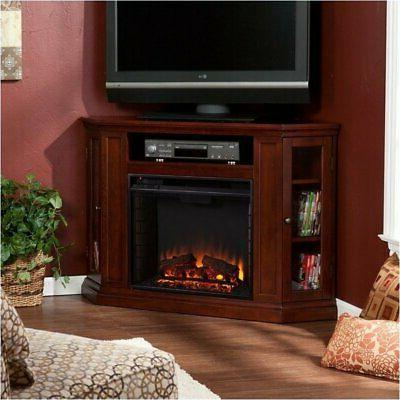 convertible electric fireplace cherry