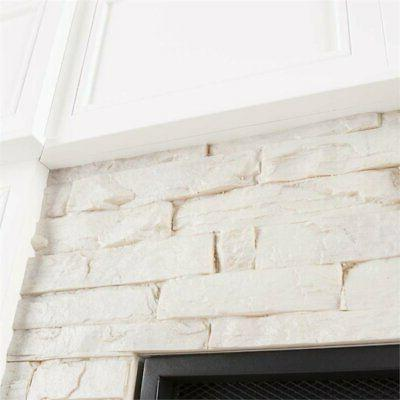 Bowery Corner Fireplace White