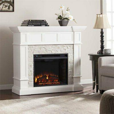 Bowery Fireplace White