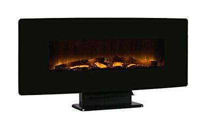 curved front 42 wall mount electric fireplace