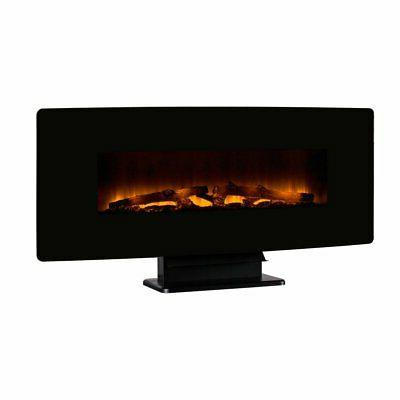 curved front wall mount electric fireplace