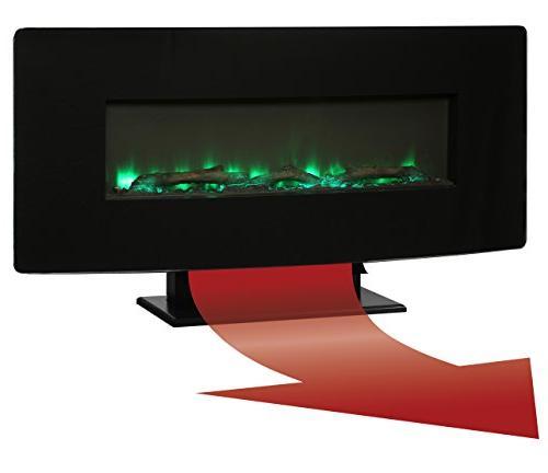 Muskoka Front Wall Fireplace-Black