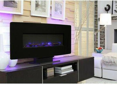 curved front wall mount fireplace