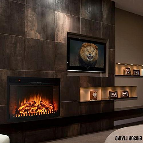 """Regal 33"""" Insert Fireplaces, Logs, Wall Mounted, Log Space Ethanol, Fireplaces"""