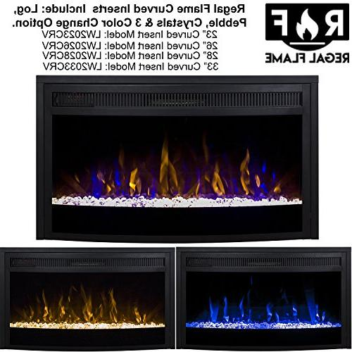 """Regal Flame 33"""" Ventless Heater Fireplaces, Gas Logs, Mounted, Log Space Heaters, Propane, Ethanol,"""