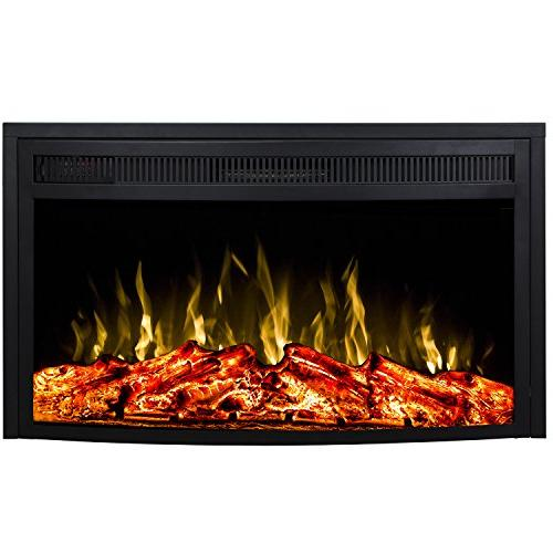 curved ventless heater electric fireplace
