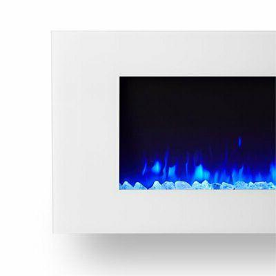 Real Electric Fireplace White