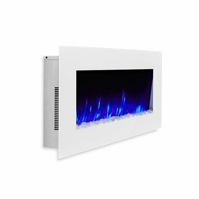 Real Flame Wall-Hung Electric in White