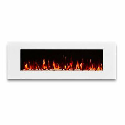 dinatale wall hung electric fireplace in white