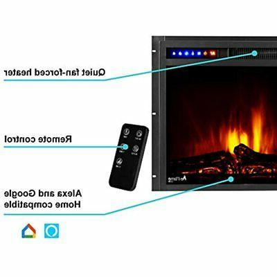 E-Flame USA Montana LED Electric Insert Remote 3D