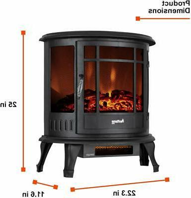 e-Flame USA Regal Freestanding Electric Fireplace Stove - Effec