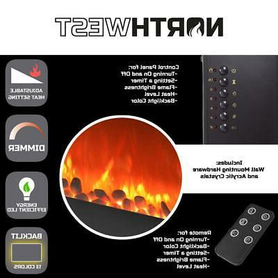 Northwest Fireplace Backlights Wall Remote