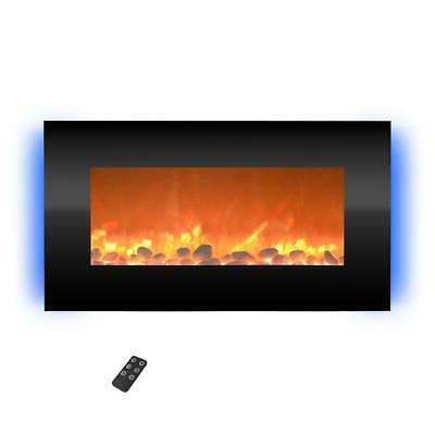electric fireplace 120 volt backlights wall mount