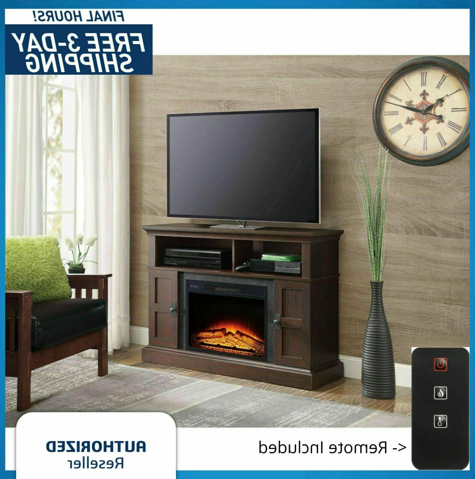 electric fireplace 70 tv stand entertainment media