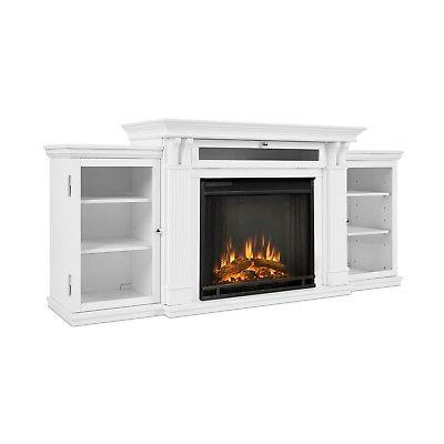 Electric Fireplace Real Calie Heater White
