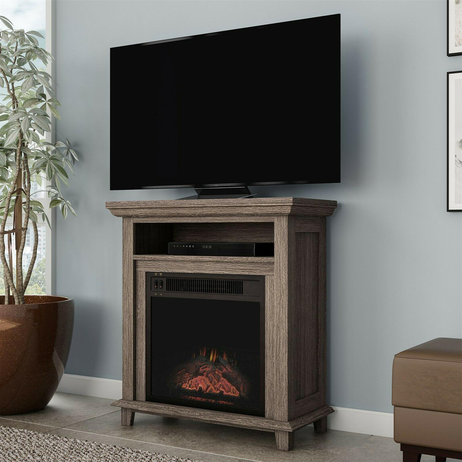 Electric Fireplace Console Stand or Faux
