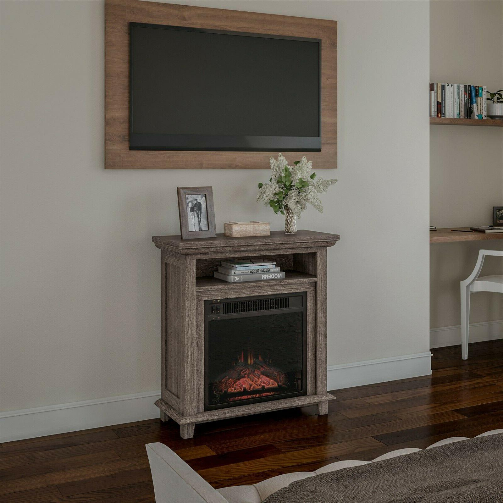 Electric Fireplace Console Stand or Table Faux