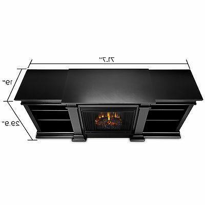 Electric Fireplace Fresno Flame Portable Entertainment Center Black
