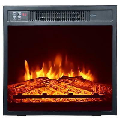 Electric Fireplace Quartz Heater Freestanding Wooden