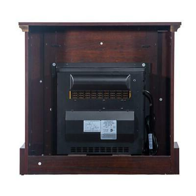 Electric Fireplace Heater Freestanding Wooden