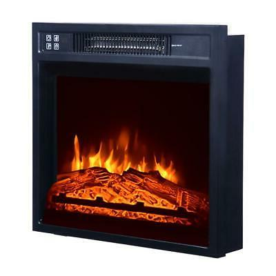 Electric Heater Flame Freestanding Wooden Cabine