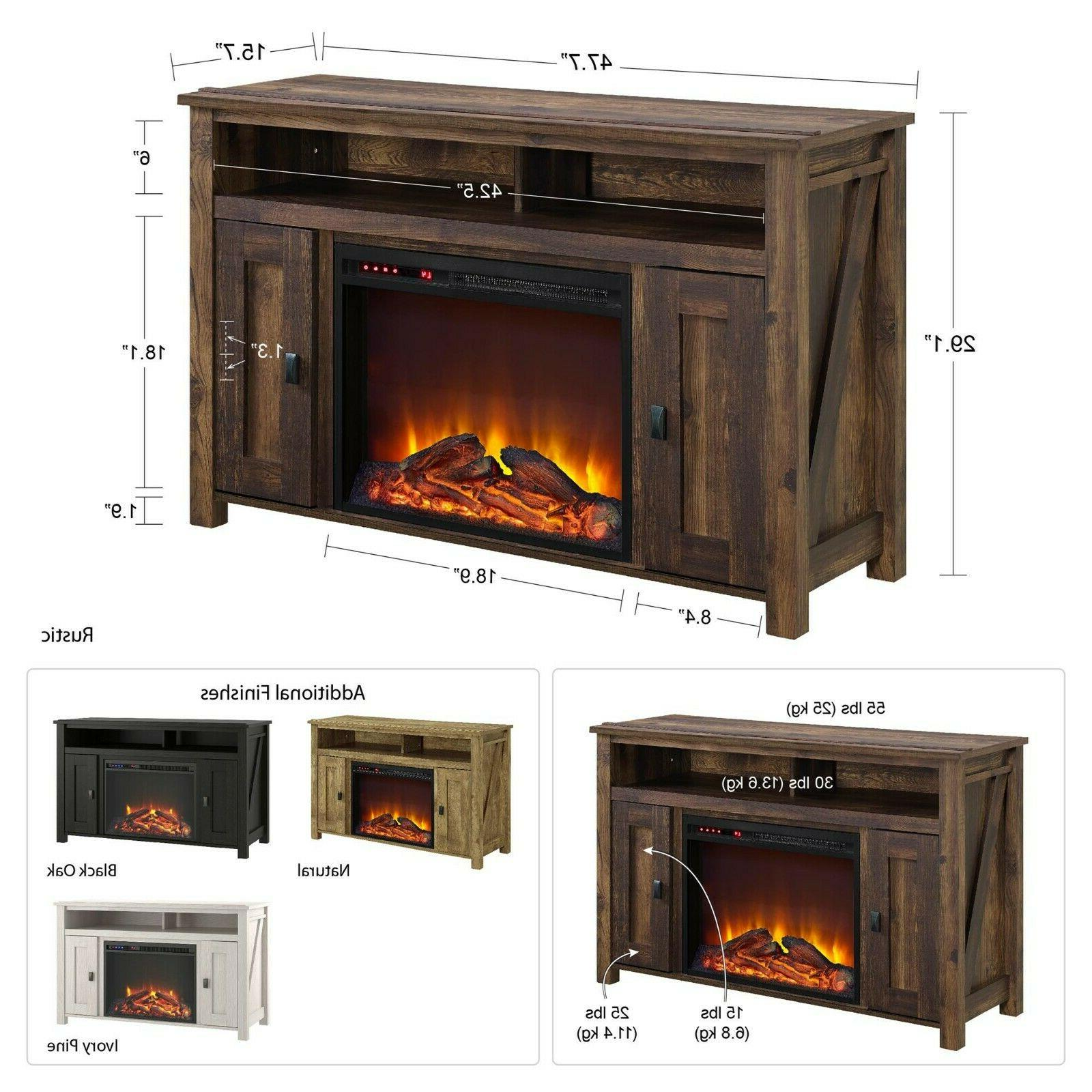 Electric Fireplace Entertainment Room Home